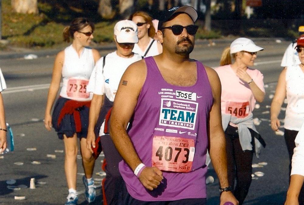 Jose Guzman running a marathon