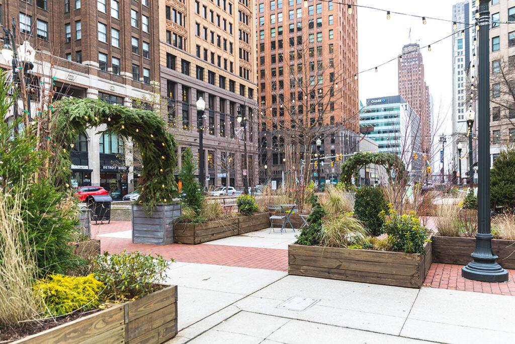 Garden Maze winter in Detroit